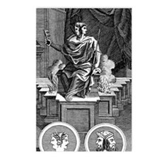 Two-faced Roman god Janus Postcards (Package of 8)