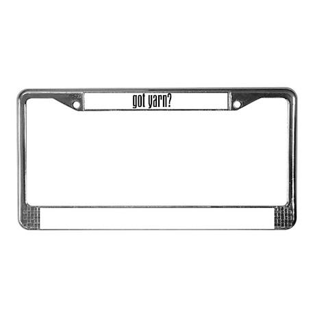 Yarnaholic License Plate Frame