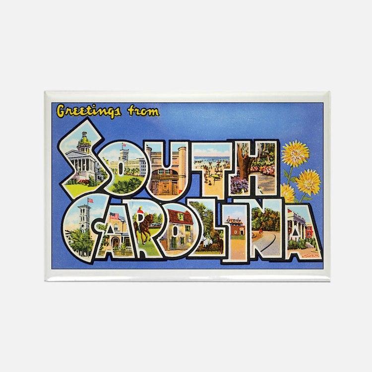 South Carolina Greetings Rectangle Magnet