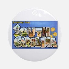 South Carolina Greetings Ornament (Round)