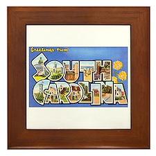 South Carolina Greetings Framed Tile