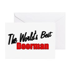 """""""The World's Best Doorman"""" Greeting Cards (Package"""