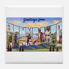 Tennessee Greetings Tile Coaster