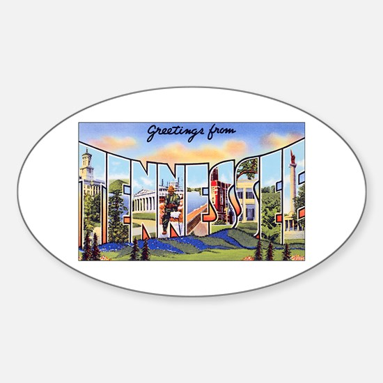 Tennessee Greetings Oval Decal