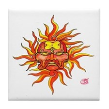 Maya Sun God Tile Coaster