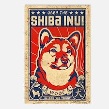 SHIBA INU Propaganda Postcards 8 pack