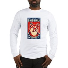Obey the SHIBA INU! Long Sleeve T-Shirt