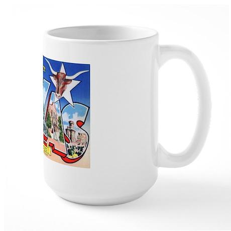 Texas Greetings Large Mug