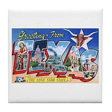Texas Greetings Tile Coaster
