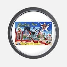 Texas Greetings Wall Clock