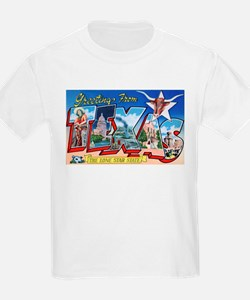 Texas Greetings (Front) Kids T-Shirt