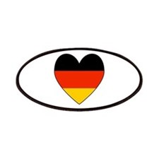 German Flag Heart Patches