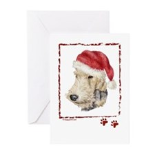 Happy Holidays Fox Terrier Greeting Cards