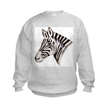Zebra Head Kids Sweatshirt