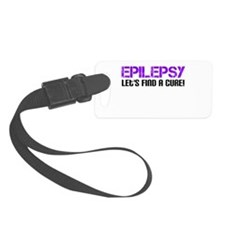 Epilepsy Lets Find A Cure! Luggage Tag