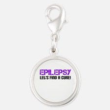 Epilepsy Lets Find A Cure! Silver Round Charm