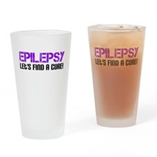 Epilepsy Lets Find A Cure! Drinking Glass