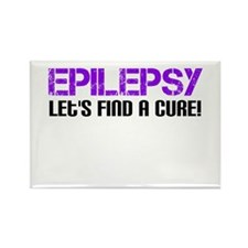 Epilepsy Lets Find A Cure! Rectangle Magnet