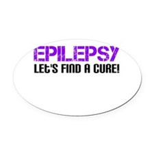 Epilepsy Lets Find A Cure! Oval Car Magnet