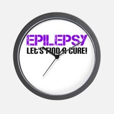 Epilepsy Lets Find A Cure! Wall Clock