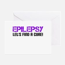 Epilepsy Lets Find A Cure! Greeting Card