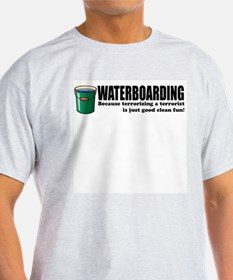 Waterboarding Ash Grey T-Shirt