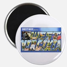 West Virginia Greetings Magnet