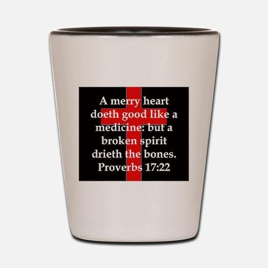 Proverbs 17-22 Shot Glass