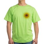 Masonic Sunny Blue Lodge Green T-Shirt