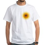 Masonic Sunny Blue Lodge White T-Shirt
