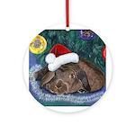 Solomon Waits Ornament (Round)