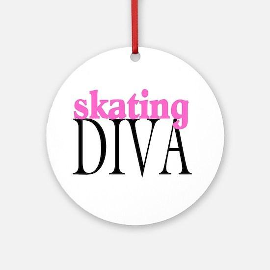 Skating Diva Ornament (Round)