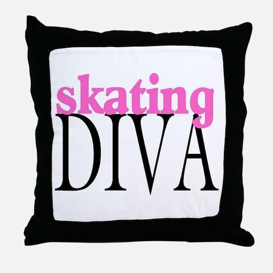 Skating Diva Throw Pillow