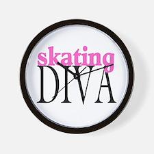 Skating Diva Wall Clock