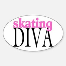 Skating Diva Oval Decal