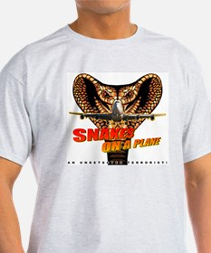 Snakes On The Plane Ash Grey T-Shirt