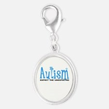 Autism Expect the Unexpected Silver Oval Charm