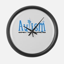 Autism Expect the Unexpected Large Wall Clock