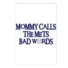 Mommy Calls The Mets Bad Words Postcards (Package