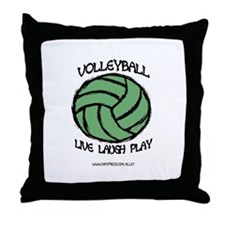 Volleyball LLL Throw Pillow