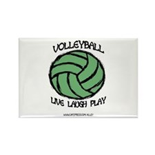 Volleyball LLL Rectangle Magnet