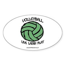 Volleyball LLL Oval Decal