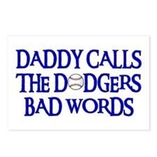 Daddy Calls The Dodgers Bad Words Postcards (Packa