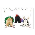Cocker Christmas Postcards (Package of 8)