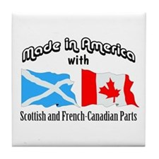 Scottish & French-Canadian Tile Coaster