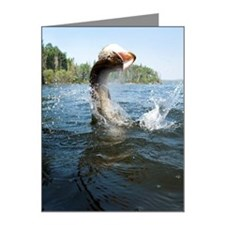 Northern Pike jumping out of Note Cards (Pk of 10)