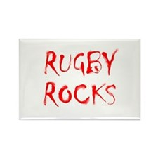 Rugby Rocks Rectangle Magnet