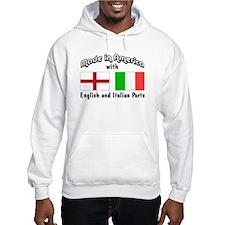 English & Italian Parts Hoodie Sweatshirt