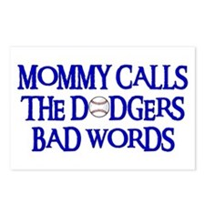 Mommy Calls The Dodgers Bad Words Postcards (Packa
