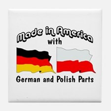 German & Polish Parts Tile Coaster